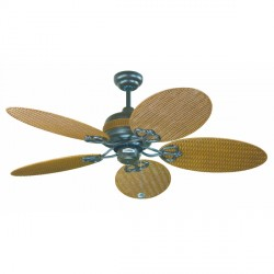 Fantasia Wicker 48 inch Pull Cord Chocolate Brown IP54 Rated Outdoor Ceiling Fan with Natural Wicker Acrylic Blades