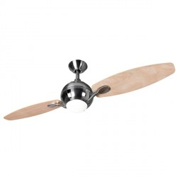 Fantasia Propeller 54 inch Remote Control Brushed Nickel 2-Blade Ceiling Fan with Maple Blades and Light