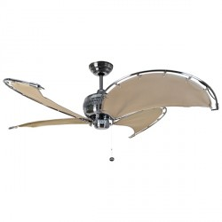 Fantasia Spinnaker 40 inch Pull Cord Stainless Steel Ceiling Fan with Stone Blades