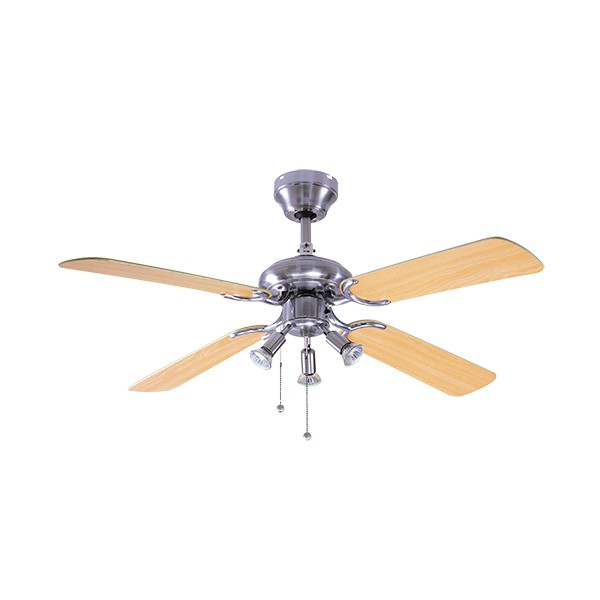 Ceiling Fans With Electrical Cords : Fantasia eurofans bali inch pull cord stainless steel
