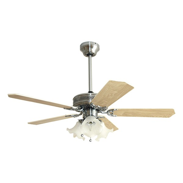 Ceiling Fans With Electrical Cords : Fantasia eurofans santa monica inch pull cord stainless