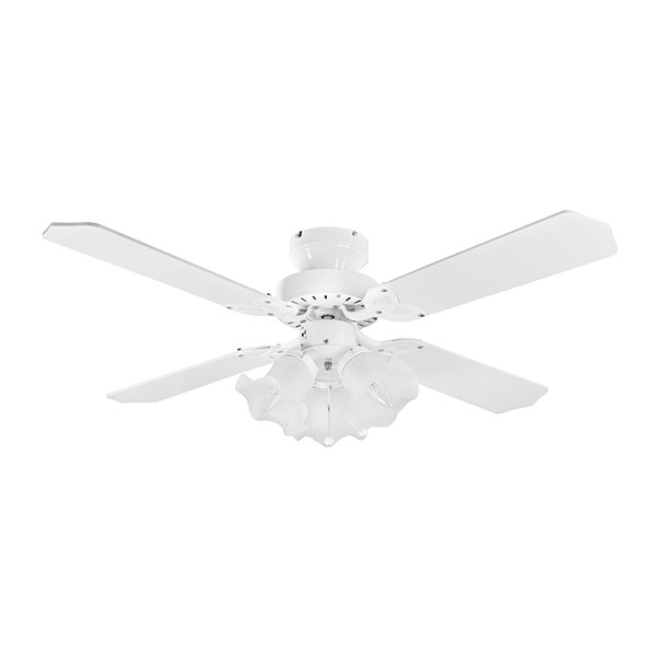 Ceiling Fans With Electrical Cords : Fantasia eurofans rio inch pull cord white ceiling fan