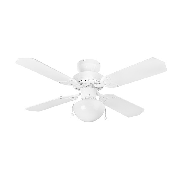 Ceiling Fans With Electrical Cords : Fantasia eurofans rimini inch pull cord white ceiling