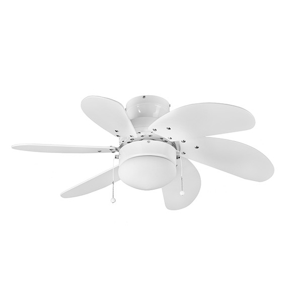 Ceiling Fans With Electrical Cords : Fantasia eurofans atlanta inch pull cord white ceiling