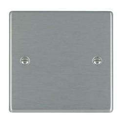 Hamilton Hartland Satin Steel Single Blank Plate