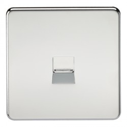 Knightsbridge Screwless Polished Chrome Telephone Extension Socket