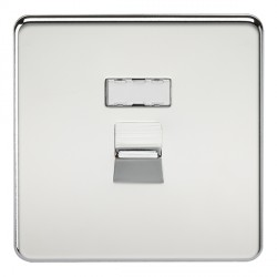 Knightsbridge Screwless Polished Chrome RJ45 IDC Network Outlet