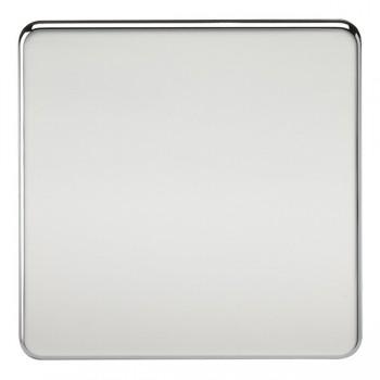 Knightsbridge Screwless Polished Chrome 1 Gang Blank Plate