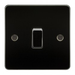 Knightsbridge Flat Plate Gunmetal 10A 1 Gang Intermediate Switch
