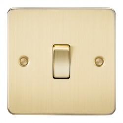 Knightsbridge Flat Plate Brushed Brass 10A 1 Gang 2 Way Switch