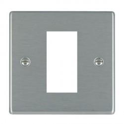 Hamilton Hartland EuroFix Plates Satin Steel Single Plate c/w 1 EuroFix Apertures + Grid