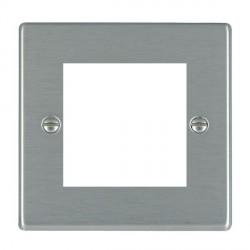 Hamilton Hartland EuroFix Plates Satin Steel Single Plate c/w 2 EuroFix Apertures + Grid