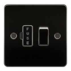 Knightsbridge Flat Plate Gunmetal 13A 1 Gang Switched Fused Spur Unit