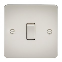 Knightsbridge Flat Plate Pearl 20A 1 Gang DP Switch