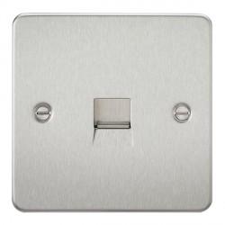 Knightsbridge Flat Plate Brushed Chrome Telephone Master Socket