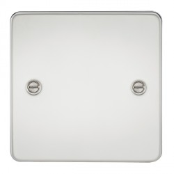 Knightsbridge Flat Plate Polished Chrome 1 Gang Blank Plate