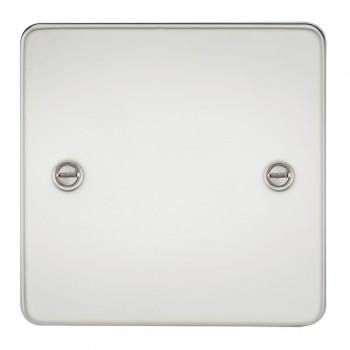 Knightsbridge Flat Plate Polished Chrome 1 Gang Blank Plate
