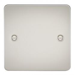 Knightsbridge Flat Plate Pearl 1 Gang Blank Plate