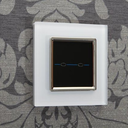 Retrotouch crystal white chrome trim 2 gang 1 way touch light switch retrotouch crystal white chrome trim 2 gang 1 way touch light switch with remote mozeypictures Gallery
