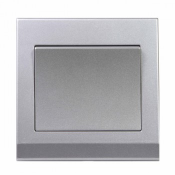 Retrotouch Simplicity Mid Grey 1 Gang 2 Way Mechanical Light Switch