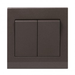Retrotouch Simplicity Charcoal 2 Gang 2 Way Mechanical Light Switch