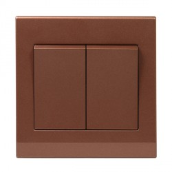 Retrotouch Simplicity Bronze 2 Gang 2 Way Mechanical Light Switch