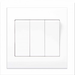 Retrotouch Simplicity White 3 Gang 2 Way Mechanical Light Switch