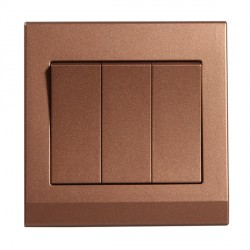 Retrotouch Simplicity Bronze 3 Gang 2 Way Mechanical Light Switch