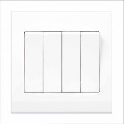Retrotouch Simplicity White 4 Gang 2 Way Mechanical Light Switch