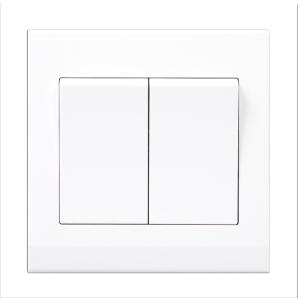 Retrotouch 07100 Simplicity White 2 Gang Retractive Light Switch At Uk Electrical Supplies