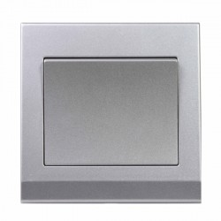 Retrotouch Simplicity Mid Grey 1 Gang Intermediate Mechanical Light Switch