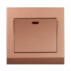 Retrotouch Simplicity Bronze 20A DP Switch with Neon