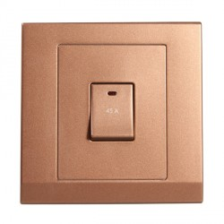 Retrotouch Simplicity Bronze 45A DP Switch with Neon