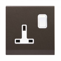 Retrotouch Simplicity Charcoal 13A DP Single Switched Socket