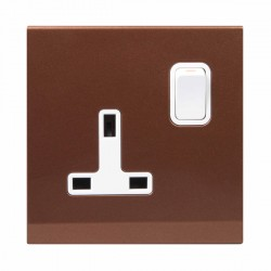 Retrotouch Simplicity Bronze 13A DP Single Switched Socket