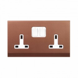 Retrotouch Simplicity Bronze 13A DP Double Switiched Socket