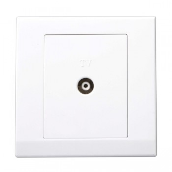 Retrotouch Simplicity White Coaxial TV Socket