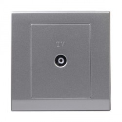 Retrotouch Simplicity Mid Grey Coaxial TV Socket