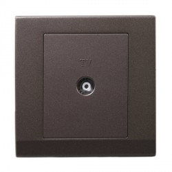 Retrotouch Simplicity Charcoal Coaxial TV Socket