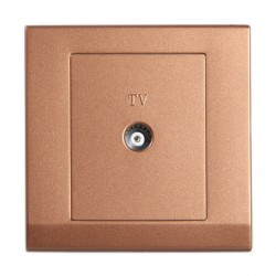 Retrotouch Simplicity Bronze Coaxial TV Socket