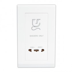 Retrotouch Simplicity White 20W Shaver Socket