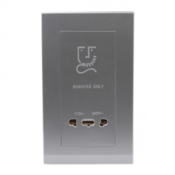 Retrotouch Simplicity Mid Grey 20W Shaver Socket