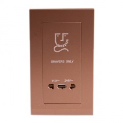 Retrotouch Simplicity Bronze 20W Shaver Socket