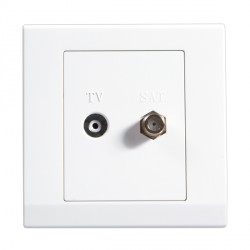Retrotouch Simplicity White TV/Satellite Socket