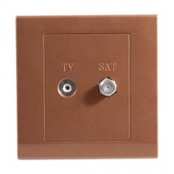 Retrotouch Simplicity Bronze TV/Satellite Socket