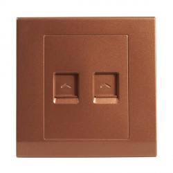 Retrotouch Simplicity Bronze Dual RJ45 Data Socket