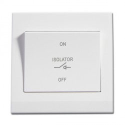 Retrotouch Simplicity White 3 Pole Fan Isolator Switch