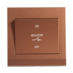Retrotouch Simplicity Bronze 3 Pole Fan Isolator Switch