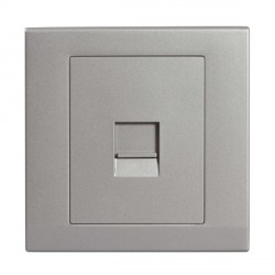 Retrotouch Simplicity Mid Grey BT Slave Telephone Socket