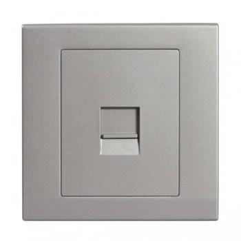Retrotouch Simplicity Mid Grey BT Slave Telephone Socket